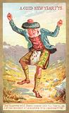 Scotsman Dancing! New Year Card.