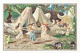 Fairies and Elves Dancing, Christmas Card