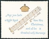 Crown and Music Notes, Christmas Card