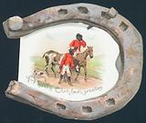 Discheveled Huntsmen and Horseshoe, Christmas Card