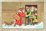 Father Christmas And His Little Friends No. 1, Christmas Card