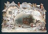 Cottage Snow Scene, Christmas Card