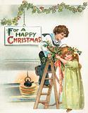 Hanging Christmas Trimmings, Christmas Card