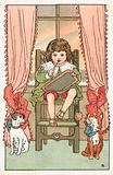 Child in High Chair, Christmas Card