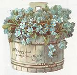 Forget-Me-Nots in Planter, New Year Card