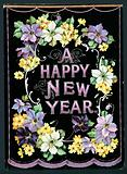 Garland of Flowers, New Year Card