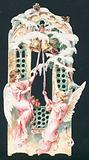 Angels ringing bells, Christmas Card