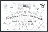 George Cole, furnishing and general ironmonger, trade card
