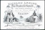 Richard Anning, tea dealer and grocer, trade card