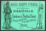 Rifle Corps Stores, trade card for the proprietor, Pope