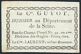 Guyot, bailiff , trade card