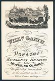William Garth, supplier of excellent hearses and mourning coaches, trade card