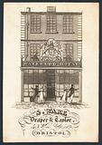 S Ware, draper and tailor, trade card