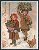A Joyful Christmas to you - Victorian Christmas card