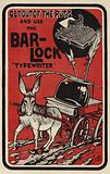 Advertisement for Bar-Lock typewriters