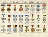 War medals and decorations