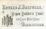 Trade card, Edward J Bossward