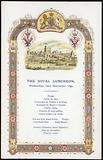 Menu for the Royal Luncheon