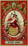 Wine label depicting Bacchus