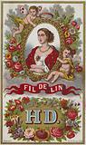 Label for linen thread