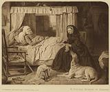 Queen Victoria at a cottage bedside at Osborne