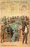 Anthropomorphic illustration of the follies of the Casino at Monte Carlo