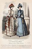 French fashion plate, late 19th century