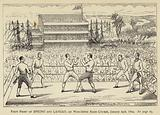 First Fight of Spring and Langan, on Worcester Race Course, 24 January 1824