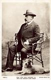 The late King Edward VII, with this favourite dog Caesar