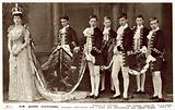 Queen Alexandra, with pages