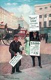 Men with sandwich boards, London