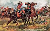 The King's Horse, now the 1st (King's) Dragoon Guards, Battle of Dettingen, June 1743