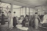 Sales salon at Paquin fashion house, Paris