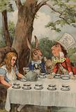 Poster depicting The Mad Hatter's Tea Party from Alice In Wonderland
