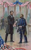 Meeting of President Abraham Lincoln and General Ulysses S Grant