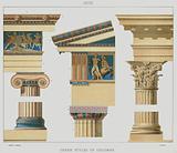 Greek, Greek styles of columns
