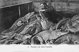 M Pernelet, French crocodile trainer, with his animals