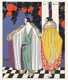 Women's fashion of the 1920s depcting coats designed by Jean Patou