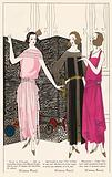 Women's evening dresses by designer Jean Patou in the 1920s