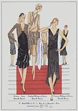 Women's evening wear from the 1920s by designers Jenny and Philippe et Gaston