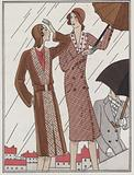 Women's coat fashions from the 1930s by designers Jenny and Louise Boulanger