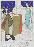 Women's fashion of the 1920s by designers Paul Poiret and Gustave Beer.