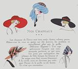 Hat designs from the 1920s