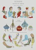 Accessories design - 1920s depiction of women's fashion from the 15th Century