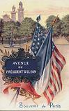 Avenue du President Wilson, Souvenir de Paris.  Postcard, early 20th century