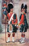 The Gordon Highlanders, Captain amd Subaltern Officer, with the King's Colours