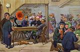 Comic portrayals of early radio