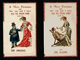 Novelty Christmas card - showing what a woman may be wishing for now and in the future