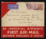 Launch of the first air-mail service between England and India by Imperial Airways in March 1929