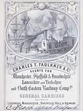 Advertisement for Charles T Faulkner and Company, agents for railway companies